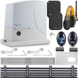 NAPĘD NICE ROX 600 ROBO 500 5xLISTWA 2xPILOT LAMPA